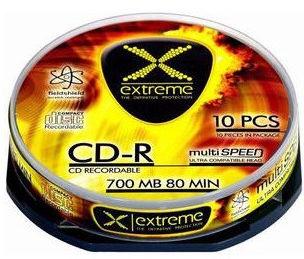 Esperanza 2036 CD-R Extreme 52X 700MB 10 Pack Cake Box