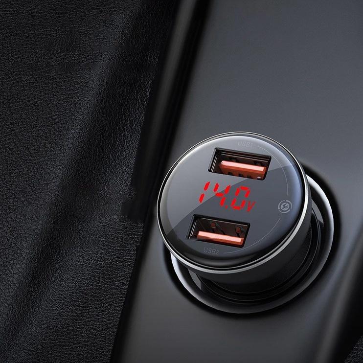 Baseus Dual USB Quick Car Charger 5A Gray