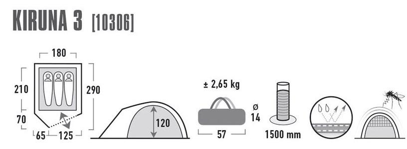Telts High Peak Kiruna 3 10306