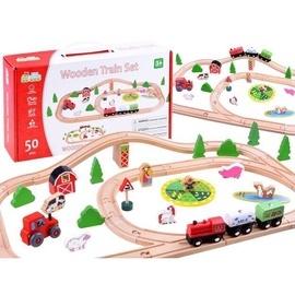 Wooden Train Set 50pcs