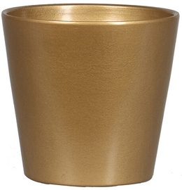 Verners Flower Pot Gold 14x13cm