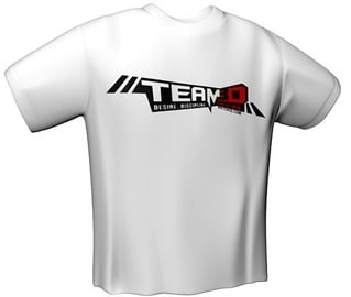 GamersWear Team3D T-Shirt White XXL