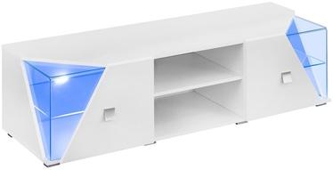 TV galds ASM RTV Edge White Gloss, 1500x500x480 mm