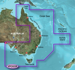 Garmin VPC022R BlueChart g2 Vision microSD East Coast Australia