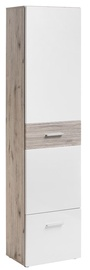 Skapis ASM Gustavo Type A Gloss White/Wellington Oak, 50x35x200 cm