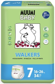 Autiņbiksītes Muumi Baby Walkers, 7, 34 gab.