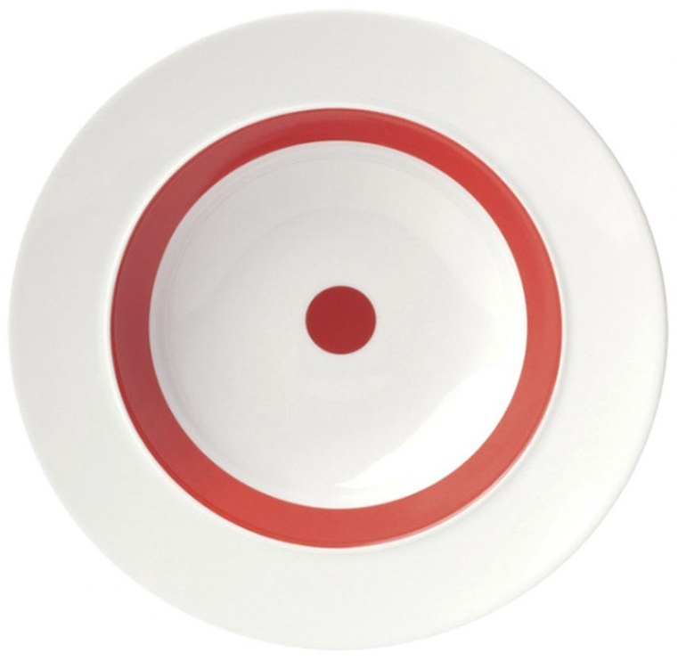 "ViceVersa Soup Plate ""The Dot"" 23.5cm Red"