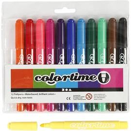Фломастер Colortime, односторонние, 12 шт.
