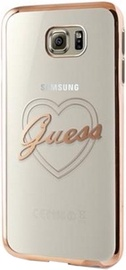 Guess Signature Heart Back Case For Samsung Galaxy S7 Transparent Gold