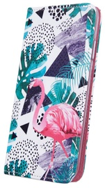 Mocco Smart Trendy Book Case For Samsung Galaxy S9 Flamingo And Plants