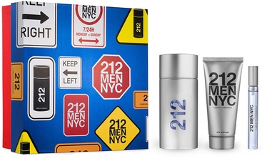Komplekts vīriešiem Carolina Herrera 212 NYC Men 3pc Set 210ml EDT