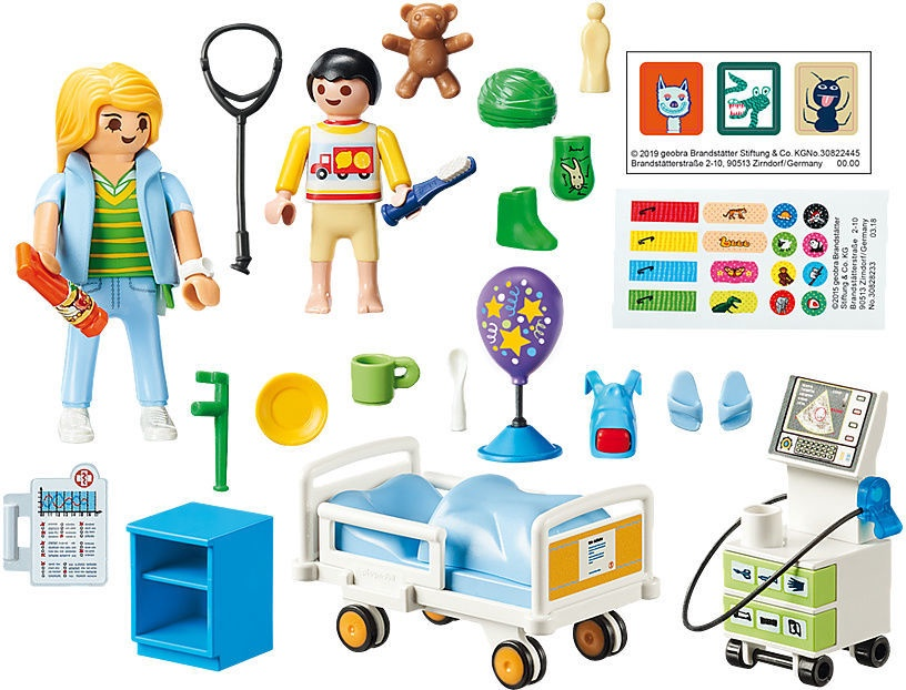 Конструктор Playmobil City Life Childrens Hospital Room 70192