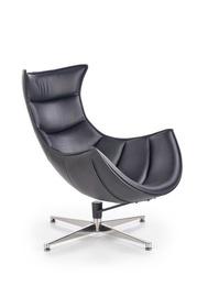 Atzveltnes krēsls Halmar Luxor, melna, 86x36x84 cm