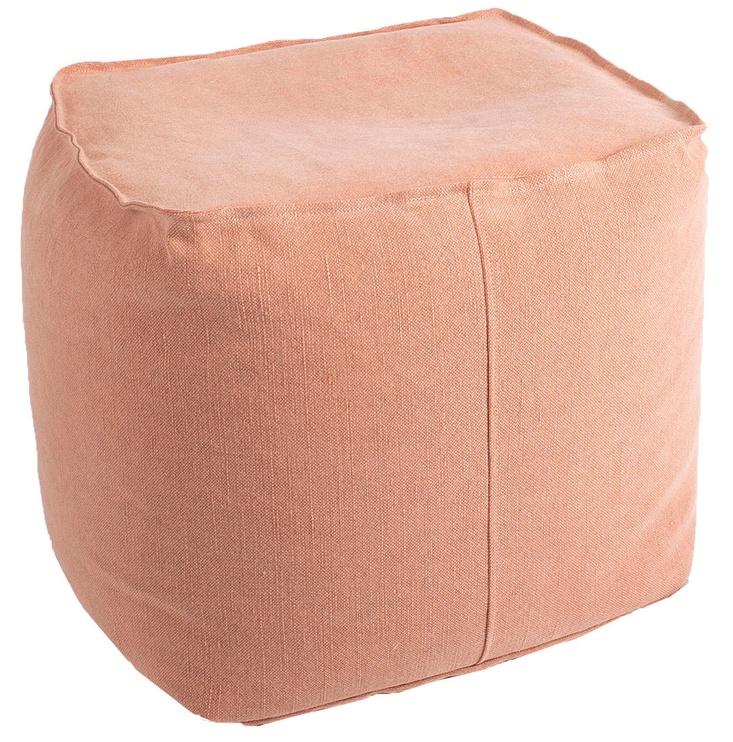 Pufs Home4you Jute Dusty Pink, 55x55x45 cm