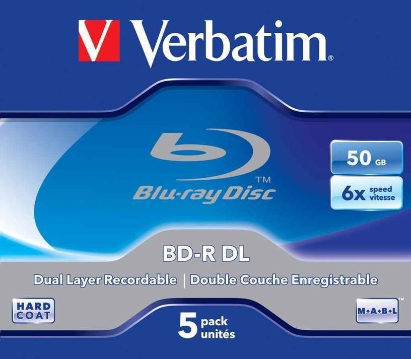 Verbatim BD-R DL JC 50GB 6x 5pcs