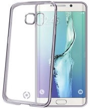 Celly Laser Back Cover For Samsung Galaxy S6 Edge Plus Transparent/Silver