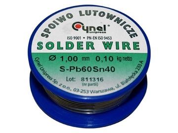 Cynel Unipress Solder Wire SN40 1mm 100g