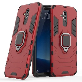 Hurtel Ring Armor Back Case For Huawei Mate 20 Lite Red