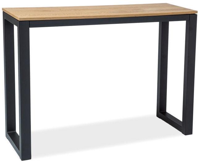 Консольный стол Signal Meble Umberto K Oak/Black, 1200x340x850 мм