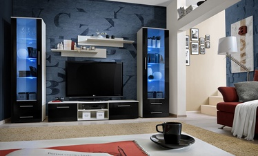 Dzīvojamās istabas mēbeļu komplekts ASM Galino C White/Black Gloss