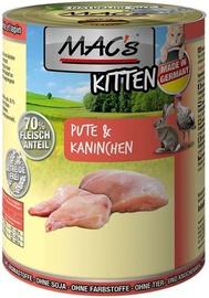 Mac's Kitten Turkey & Rabbit 400g