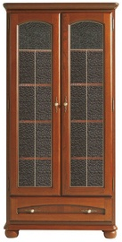 Skapis Black Red White Bawaria Chestnut/Walnut, 101.5x40x200 cm