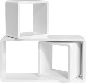 Songmics Cube Shelf 3 Sizes 3pcs White