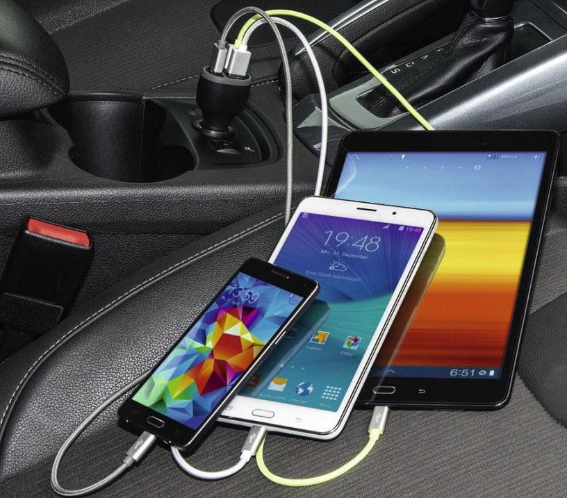 Hama 3 USB 5.2A Car Charger Black