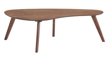 Kafijas galdiņš Home4you Scarlett Walnut, 1200x600x380 mm