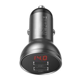 Auto lādētājs 4.8A 2xUSB LED 24W