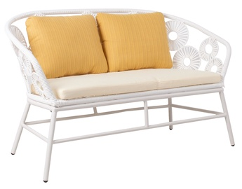 Home4you Rondo Garden Sofa White