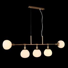 Gaismeklis Maytoni Erich MOD221-PL-05-G Ceiling Lamp 5x40W E14 White/Gold