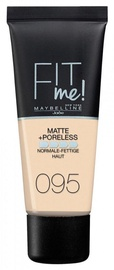 Тональный крем Maybelline Fit Me Matte + Poreless 95 Fair Porcelain, 30 мл