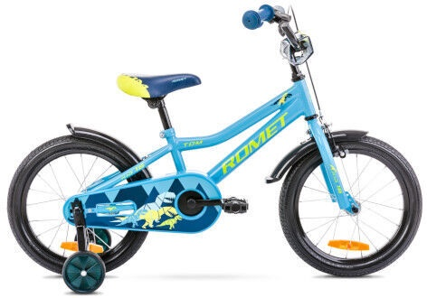 Bērnu velosipēds Romet Tom 16 9'' Blue/Green