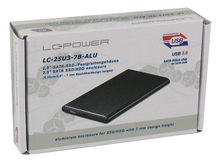 "HDD / SSD korpuss (enclousure) LC-Power LC-25U3-7B-ALU USB 3.0 Enclosure 6.35cm/2.5"""