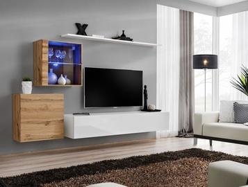 ASM Switch XV Living Room Wall Unit Set Wotan Oak/White