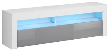 ТВ стол Vivaldi Meble Mex, белый/серый, 1600x350x500 мм