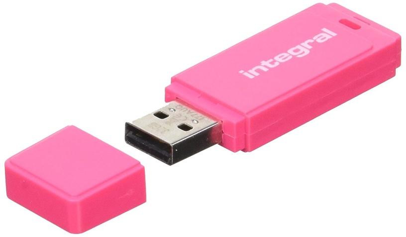 USB atmiņas kartes Integral Neon Pink, USB 2.0, 16 GB