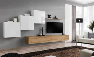 ASM Switch X Wall Unit White/Wotan Oak