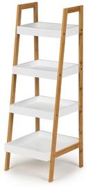 Plaukts GoodHome Bookcase Shelf White/Wood