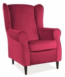 Atzveltnes krēsls Signal Meble Scandinavian Baron Velvet, brūna/sarkana, 75x80x101 cm