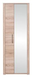 Skapis Black Red White Go Sonoma Oak, 74x40x200 cm, with mirror