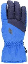 4F Mens Ski Gloves H4Z19 REM001 Blue/Black Size L