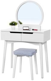 Столик-косметичка Songmics Vasagle URDT11W, белый, 80x40x128 см, с зеркалом