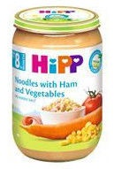 HiPP Puree Noodles With Ham And Vegetables 220g