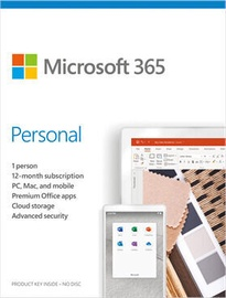 Microsoft Office 365 Personal Retail 1-Year Latvian License Medialess