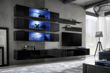 ASM Fly J3 Living Room Wall Unit Set Black