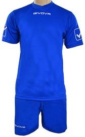Givova Sports Wear Kit MC Blue XXXS