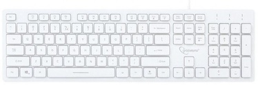 Gembird UML3-01 Multimedia Keyboard US White