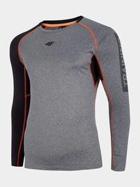 Krekls ar garām piedurknēm 4F Men's Training Long Sleeve Top Grey L H4L20-TSMLF001-24M